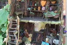 Inspiration - Fairy Houses / Whether they are made in pots or tree stumps these lovely fairy houses will keep the fairies coming back to your garden