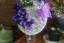 Moja tvorba - kvetinové dekorácie