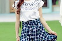 Mid-Length / Our Mid-length skirts are made from many kinds of material such as denim, chiffon, cotton and so on.