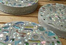 Hagesteiner og mosaikk
