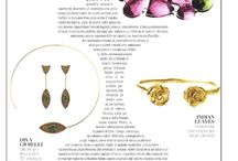 Press / Giulia Barela's high fashion jewelry has been featured in Vogue, Vanity Fair, and Elle as well as Paris and London's fashion week.