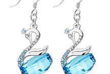 Crystal earrings / Swarovski element