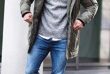 Men style parka