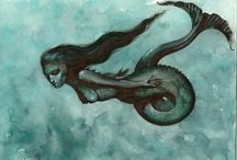 """I'm a Mermaid / """"But do not give up the search for the sea"""" - Kent Nerburn / by Brittney Hogan"""