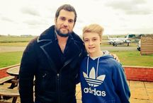 Henry Cavill in Great Britain February 2015 / Exeter International Airport, Exeter,Great Britain ,Henry On The Set Of  The Man from U.N.C.L.E. Promo Photo Shoot for ShortList Magazine