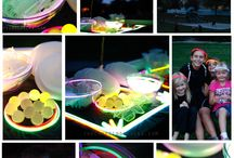Let's Glow! / Glow in the dark birthday party ideas