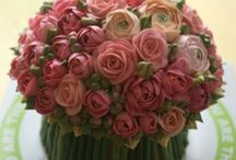 Bolos com flores