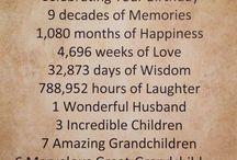 Ninety years celebration for Mom