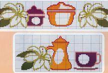 border kitchen cross stitch