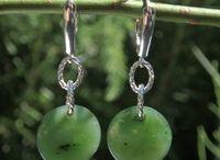 Jade Earrings: Jadeite and Nephrite Earrings & 925 Sterling Silver / Jade Jewellery / Jade Jewelry: Natural Jade Earrings: Jadeite and Nephrite Earrings & 925 Sterling SIlver