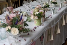 Kirsty / May 2014 Very vintage, lots of chintz, pastels in creams, blues, pinks and purples with soft muted tones in shell pinks and lavenders too