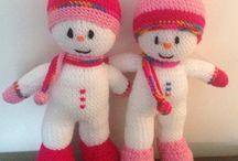 sněhuláci / háčkování