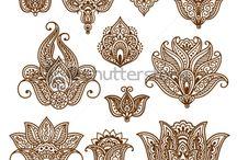 motifs henné