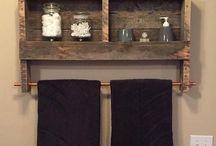 muebles de baño con palets / Bano