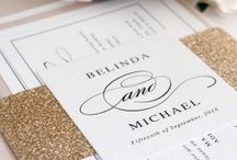 Glittery Wedding Invitations