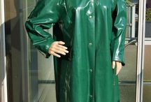 Green rainwear