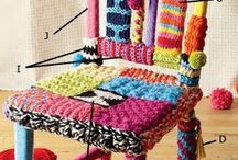 Knit Chair / Örgü Sandalye / #kendinyap #diy #chair #sandalye #dekorayon #handy #creative #knit #colorful