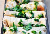 layering and wrapping (tortilla and noodle) / enchiladas, lasagnas, crepes, burritos....