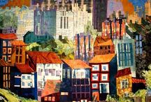 Cityscape quilts / From graffiti to ancient stone arches, cities offer an abundance of inspiration. / by Ellen Lindner - Adventure Quilter