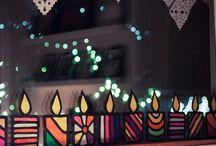 kynttilä/ikkunatyö