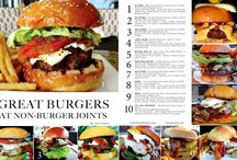 """GREAT BURGERS / BY TONY GUERRA MIAMI - GREAT BURGERS including the EDITORIAL: """"GREAT BURGERS AT NON-BURGER JOINTS"""" - I love burgers and my intention for this piece was to share with people some great burgers you can enjoy at non burger restaurants.  I find that if your at a restaurant with good ingredients are at the forefront, if they have a burger on the menu, it will be great. I found that most of these chefs put love into there burger when I ordered it because they wanted to make it special."""