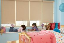 Designer Roller Shades / Hunter Douglas Designer Roller Shades are easy to operate   with hundreds of fabric choices—sheers to opaques, and floral patterns to traditional solid colors. Designer fabrics offer UV protection from the sun.