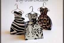 cajitas en forma de vestido