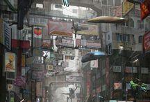 City States / Sci-Fi Fantasy Art: Cityscapes & Suburbs