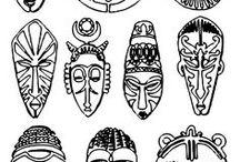 africké masky