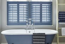 Hotel Style Interior / Create a luxurious hotel style interior with classic colours, chic accessories and the ultimate stylish finish - beautiful window shutters.