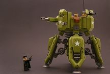 Robotic Lego / Robots and other Mecha, usually made with Lego bricks.