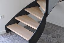 Schody na konstrukcji metalowej / Stairs / Treppe