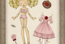 muñecas de papel