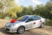 Dekoracja samochodu na ślub, Car red decorations