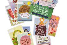Milestone Baby Cards / Milestone Baby Cards, available at www.desmondelephant.com