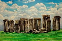Art- Ancient Stones / Circles of stones, Standing Stones / Menhirs, Dolmens / Quoits / Cromlechs, wedge and portal tombs. Focusing only on UK And Ireland.