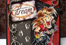 Rock Squad / Ideas and Inspiration for your Cardmaking needs using Digi images from the one and only Kenny K.