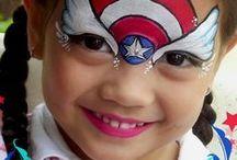 Face Paint-superheroes
