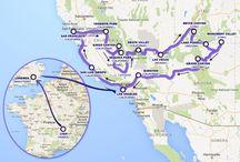 Itinéraire de notre voyage