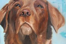 dog paintings / www.alypost.nl