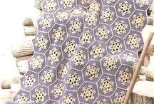 Crotchet snowflakes afghan