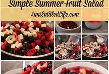 Summertime Recipes / Summer Recipes | Picnic Recipes | Light Meals | Light Desserts |Warm Weather Foods |