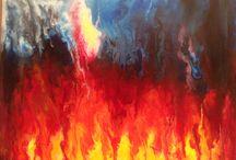 My paintings / Acrylic on canvas
