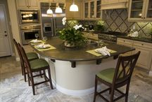 cream with olive tone kitchen cabinets