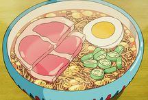 food // art / i don't like anime but the food looks gr8