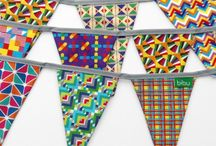 Bibu Textile Garlands / If you like our pattern designs, you can have them all in our specially made textile garlands! Our party flags are not only for parties, these garlands can be left up all the time! they are a great gift for a baby shower to decorate a nursery. http://www.bibushop.com/shop-products/garlands/
