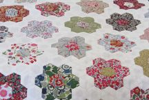 Sewing - Quilts - Hexagons and Diamonds