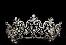 Tiaras / The tiara was the most enduring symbol of the Edwardian era. Worn only by married women, it was one of the first pieces of jewelry purchased--or gifted--by a young woman for her trousseau. When dining with the King, a tiara was ruled a necessity, which he was not hesitant to point out should a woman arrive at the dining table without one!