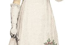 Regency ball gown with over bodice