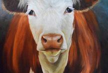 groot portret koe
